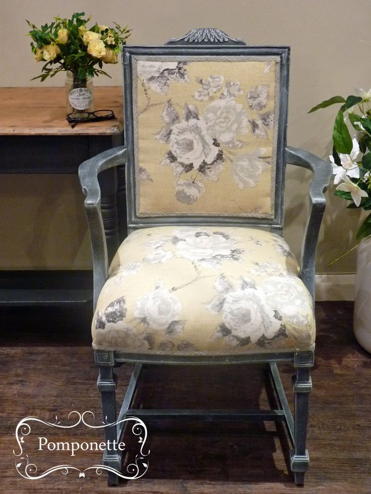 Upholstered Chair   anniesloanhome Graphite  chalkpaint mix  Re upholstsred  in Emmeline by14 best Chairs images on Pinterest   Chairs  Dining chairs and  . Old Dining Chairs Leicester. Home Design Ideas