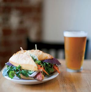 When road tripping California's Central Valley, be sure to make a stop at Magpie Café in Sacramento, where you can order a bánh mì sandwich is filled with sustainable beef from a nearby ranch.