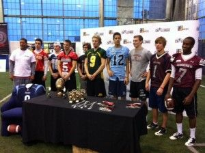 Last week Pros Give Back was one of the media partners for the Damon Allen High School Quarterback Challenge at Downsview Park in Toronto, Ontario. We got to witness a great competition between high school quarterbacks from 100 high schools in Ontario in which the winner of the competition received a scholarship to the Ontario university of their choice. #CFL #Argos #football #sports #community #youth #charity #humanitarian #quarterback