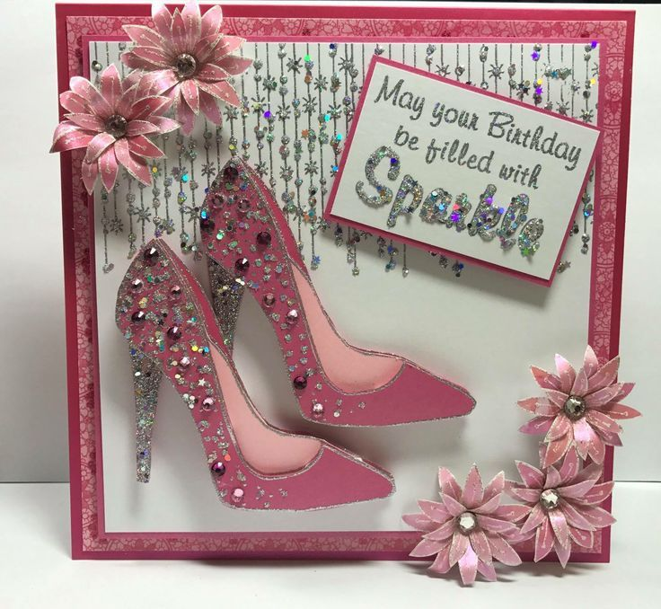 Image Result For Handmade Birthday Card With Shoes And