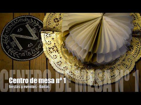 Centro de mesa nº1 nido de abeja - Fiestas y eventos: Bodas - YouTube