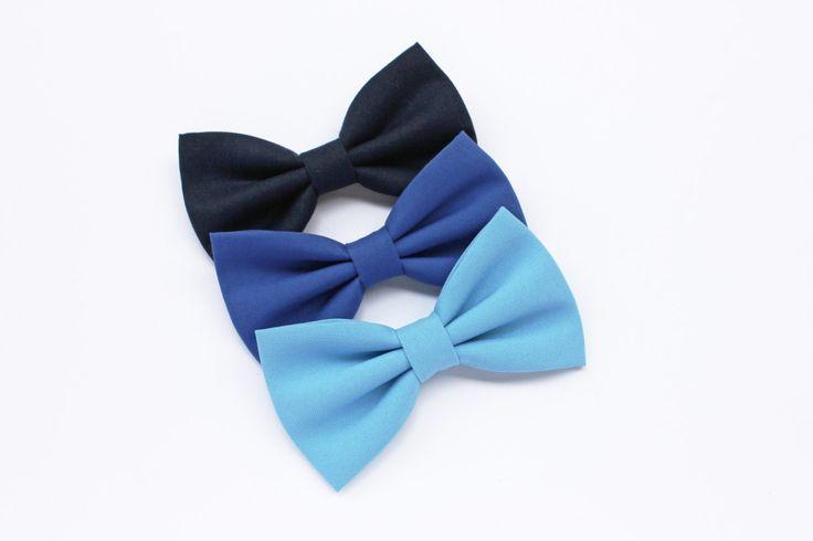Papillon per uomo blu azzurro,carta da zucchero,blu scuro,blu notte,blu reale,blu navy,papillon cerimonia matrimonio,accessori uomo sposo di ScoccaPapillon su Etsy