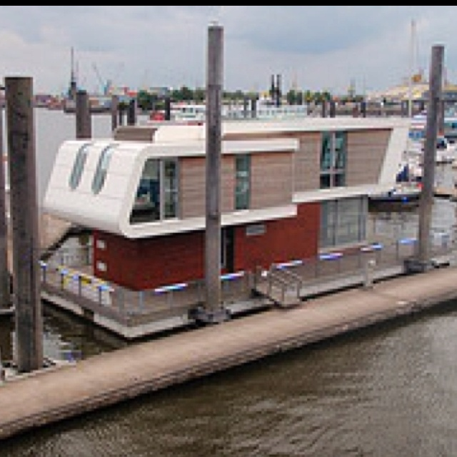 Best Boat Houses Images On Pinterest Boat House Houseboats - Awesome floating house shore vista boat dock by bercy chen studio