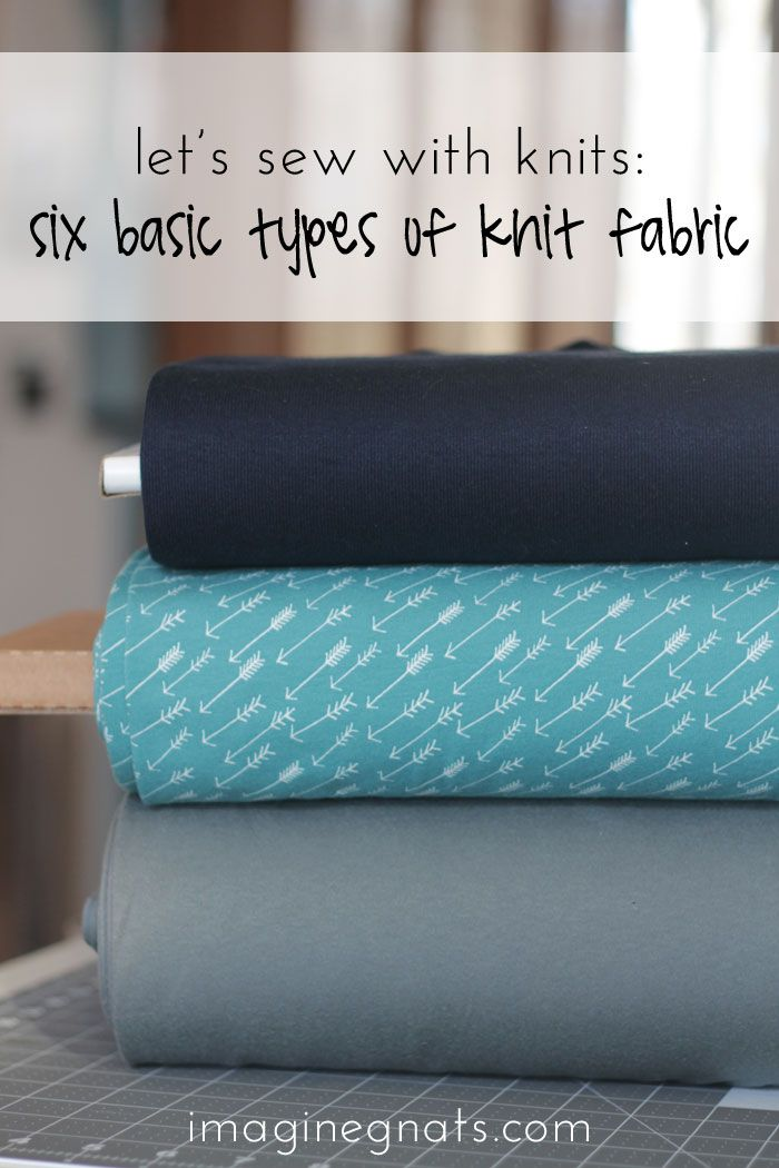 "The first post in the ""let's sew with knits"" series shows you six basic types of knit fabric; includes printable guide."