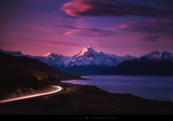 One of my favourite times of day is after the sun has set, and the first stars appear. They commonly call this the blue hour, but I like to think of it as the changing of the guard - the moment day becomes night. I was down on the South Island of New Zealand last weekend, and managed to witness this amazing moment as the sun went down to the west, and the after glow lit up the tops of New Zealand highest mountain, Mount Cook, and the lenticular clouds above. This image is a frame from a…