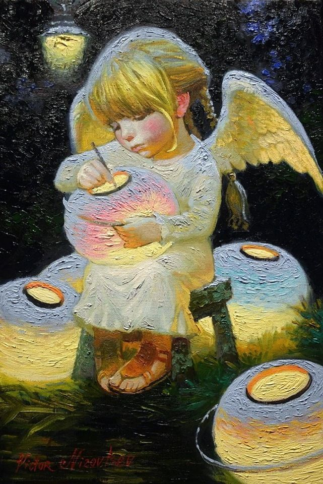 Ангелы рядом с нами живут... Художник Виктор Низовцев - День вдохновения