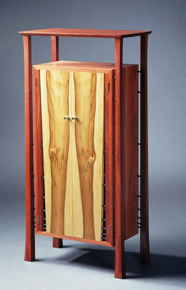 """CD's Knees"" CD Cabinet. Jarrah And Camphor Laurel. By Pam"