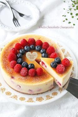 「濃厚なめらかホワイトチョコニューヨークチーズケーキ」ぱお | お菓子・パンのレシピや作り方【corecle*コレクル】