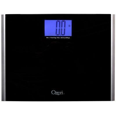 Ozeri Ozeri Precision Pro II Digital Bath Scale (440 lbs Capacity) with Weight Change Detection Technology