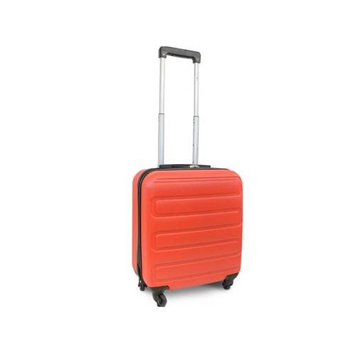 VALISE CABINE ABS 4 ROUES DIMENSION LOW COST ROUGE KINSTON