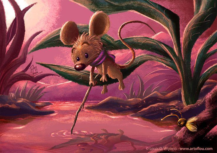 Little Reflection - #art by Louis D. Wiyono  #illustration #kidlitart #childrensbook