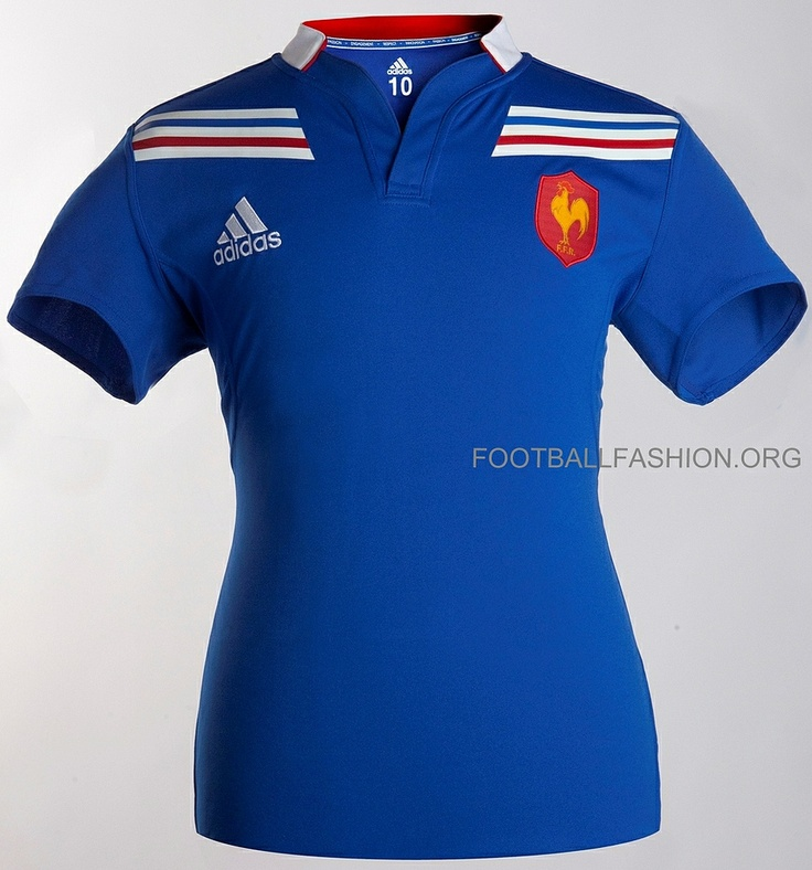 Adidas Rugby Home: France Adidas 2012/13 Rugby Home Jersey
