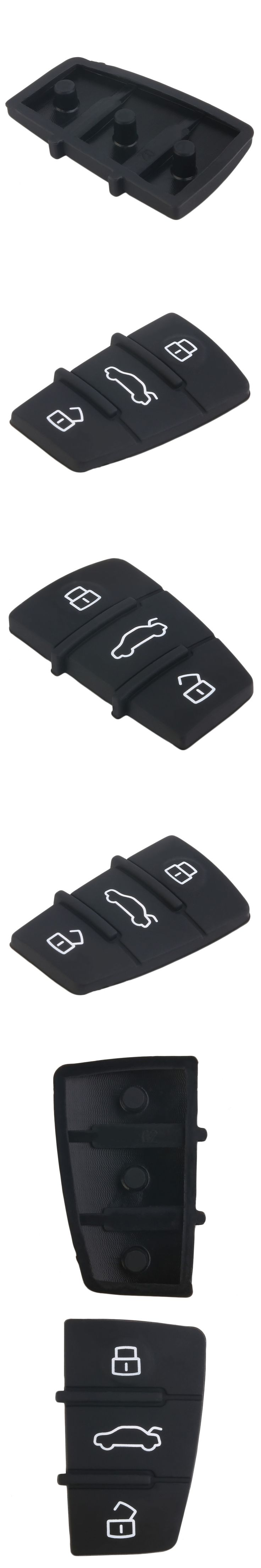 3 Button Replacement Pad Rubber Remote Key Fob For Audi A3 A4 A5 A6 A8 Q5 Q7 TT S LINE RS Free Shipping