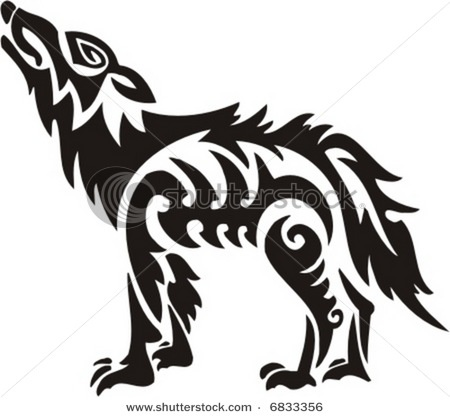 Tribal wolf | wolves | Pinterest | Wolves, Vector ...
