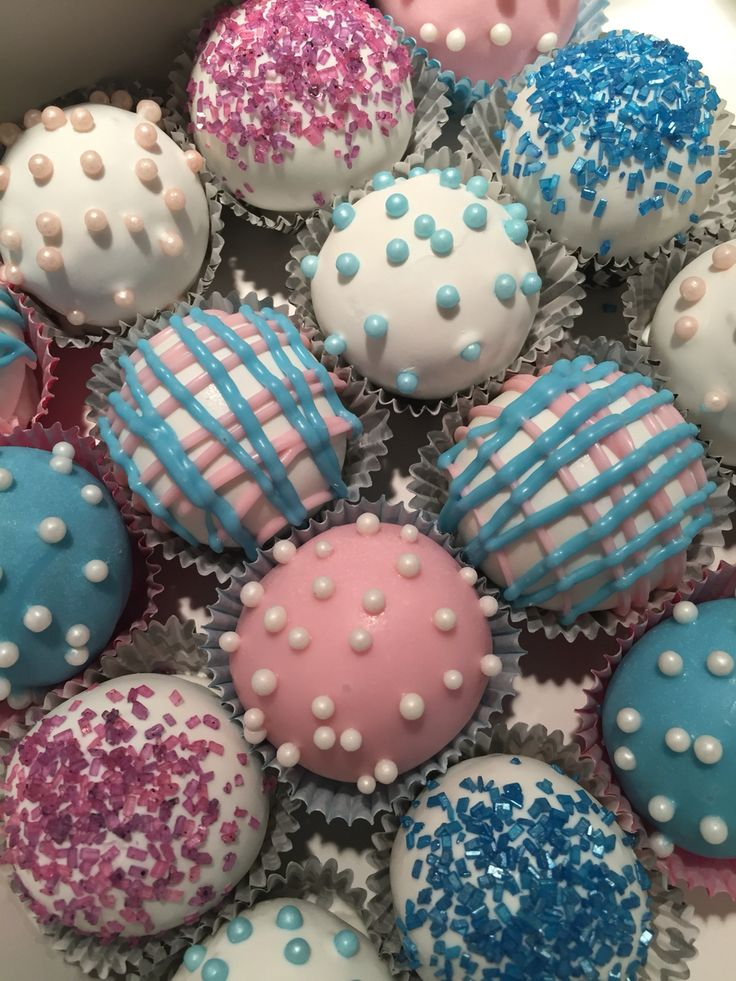 how to make gender reveal cake balls