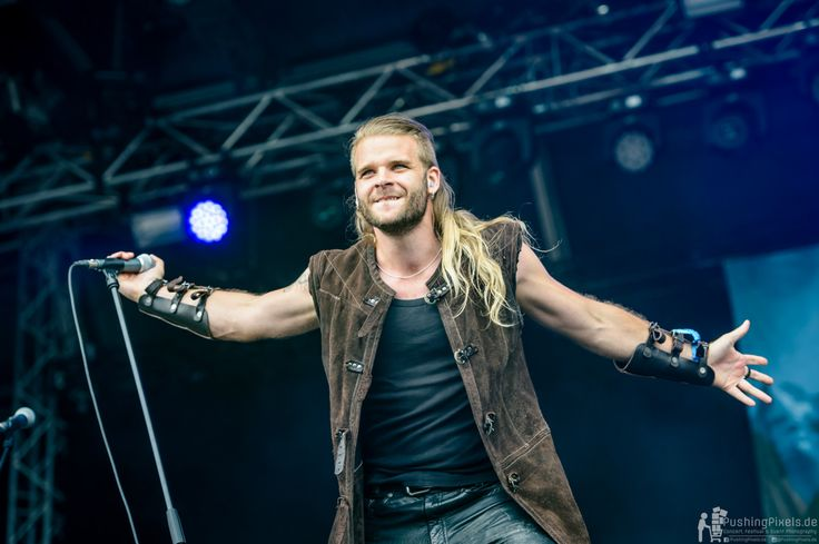 Chrileon - Twilight Force ⚫ Photo by Markus Felix, Pushingpixels.de ⚫ Rockharz 2016 ⚫ #TwilightForce #music #metal #concert #gig #musician #Chrileon #singer #vocalist #frontman #singing #microphone #bracers #coat #leather #beard #earrings #blond #longhair #festival #photo #fantasy #magic #cosplay #larp #man #onstage #live #celebrity #band #artist #performing #Sweden #Swedish #Rockharz