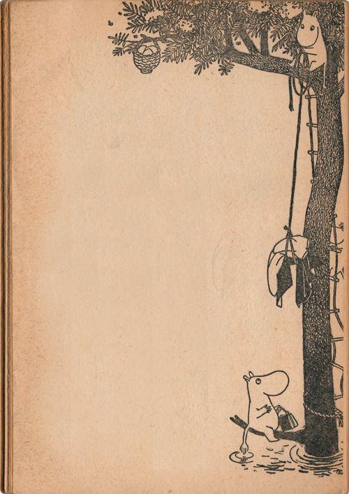 """""""Makuullemenon aikana Muumipeikon äiti hinasi vuodevaatteet puuhun. Sitten hän järjesti pienen aamiaiskorin, jonka Muumipeikko ja Niiskuneiti saisivat purkaa seuraavana aamuna."""" Vaarallinen juhannus"""