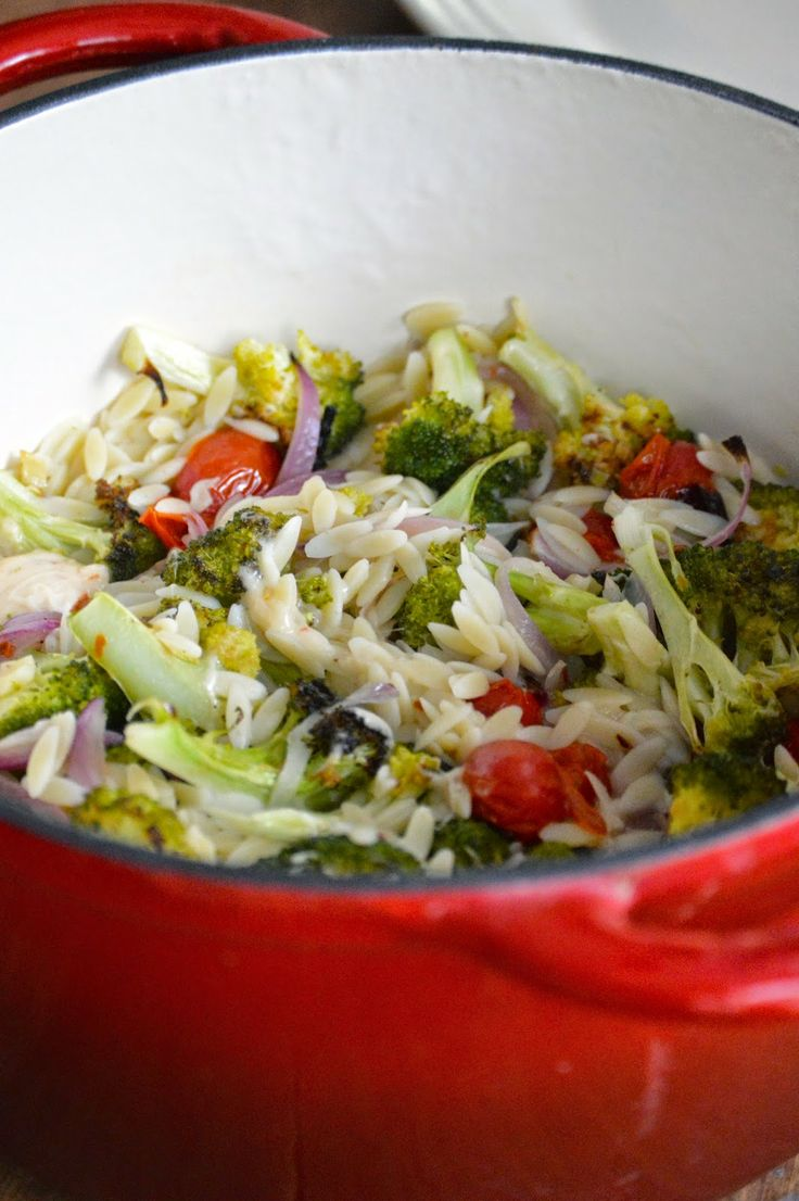 Orzo With Roasted Vegetables Recipe — Dishmaps