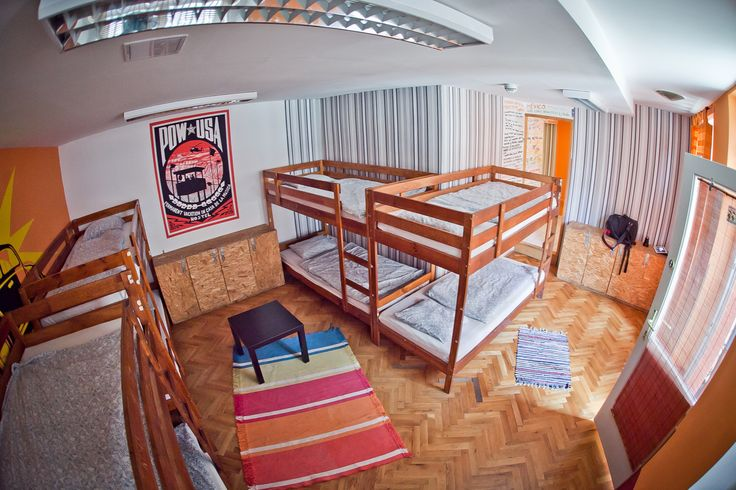 One of our dorm rooms for 8 people at the Casa hostel in Budapest, it has it's own bathroom too! Check us out!