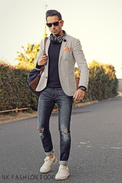 Blazer and jeans Outfit For Men\u0027s