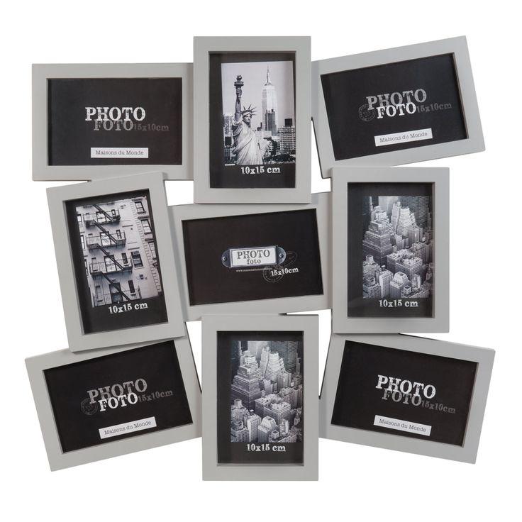 cadre photo gris 9 vues nolan maison du monde plan de table pinterest cadres photos. Black Bedroom Furniture Sets. Home Design Ideas