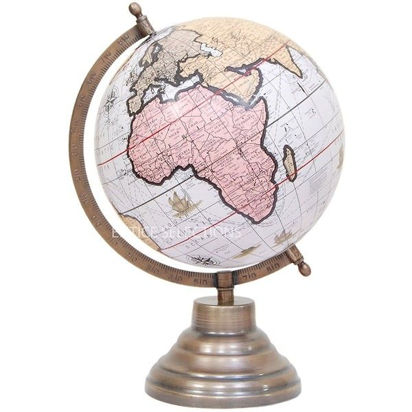 Amazon.com: Globes of the world - 8 Inch Political Antique Look... ($43) ❤ liked on Polyvore featuring home, home decor, worldglobe, map globe, map home decor, metal home decor, metal globe and handcrafted home decor