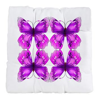 Mirrored Awareness Butterflies Tufted Chair Cushions
