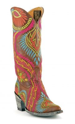 Womens Old Gringo Tiegan Boots Brass