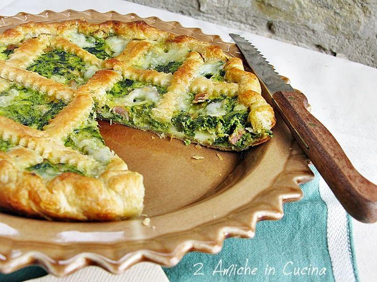 Torta Salata con Cime di Rapa, Pancetta e Asiago | 2 Amiche in Cucina