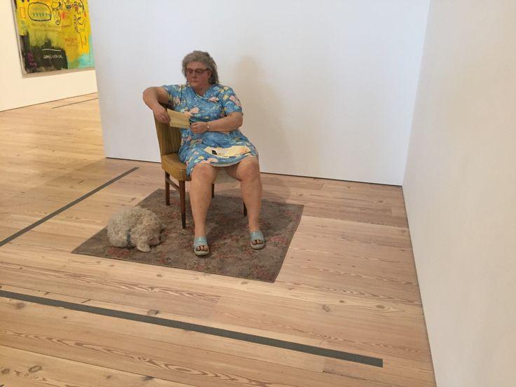 Woman With Dog - Duane Hanson