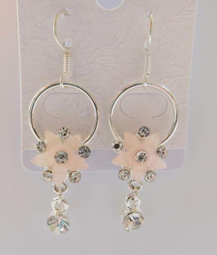 Cute-Korean-Style-Pink-Flower-Earrings