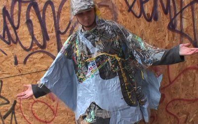 How to Make a Rain Poncho Out of a Shower Curtain