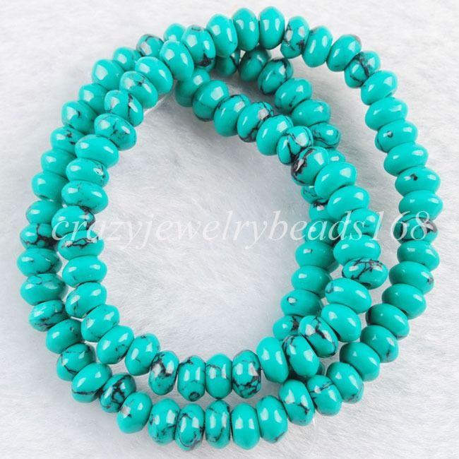 Free shipping Natural Turquoise Gemstone Spacer Loose Beads 15.5 Inches BG175