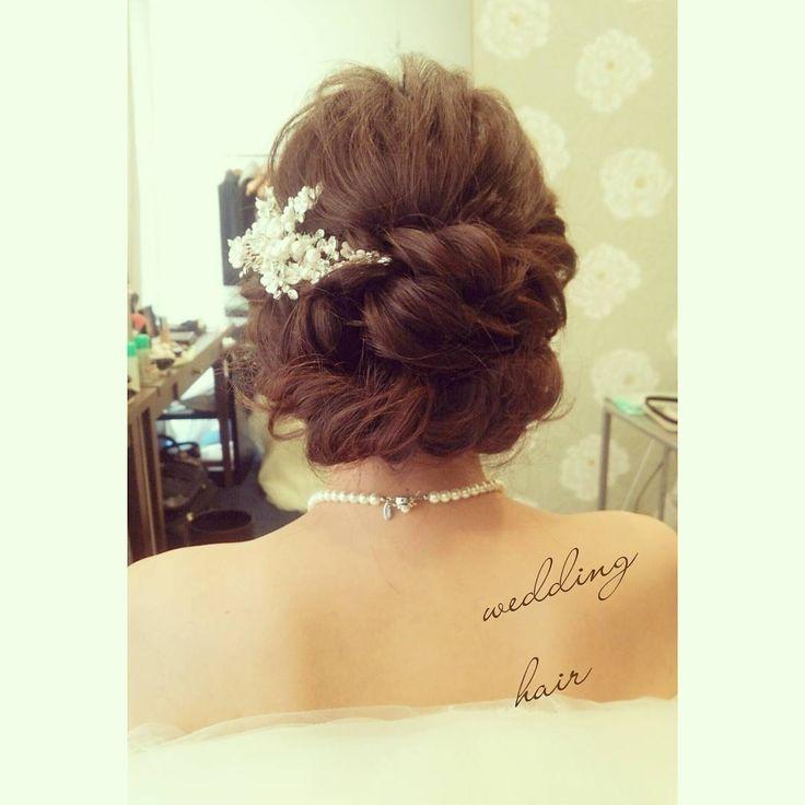#ヘアアレンジ#ヘアセット#ヘア#ヘアスタイル#ルーズアレンジ #ブライダルヘア #weddingdress #wedding#weddinghair #bridal#hairdo #Instagram#ウェディング#プレ花嫁#花嫁#挙式