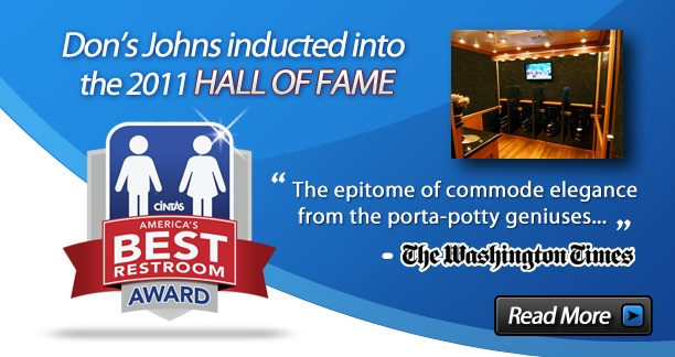 Don 39 s johns is the leader in porta potty rental restroom for Porta johns for sale