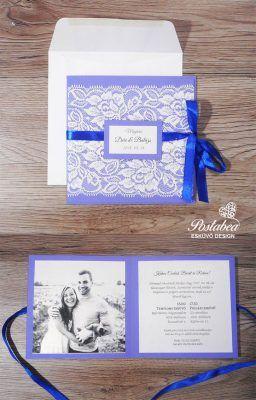 lila csipkés esküvői meghívó