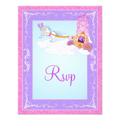 Pink, Purple Fantasy Fairy Tale Wedding Reply Card
