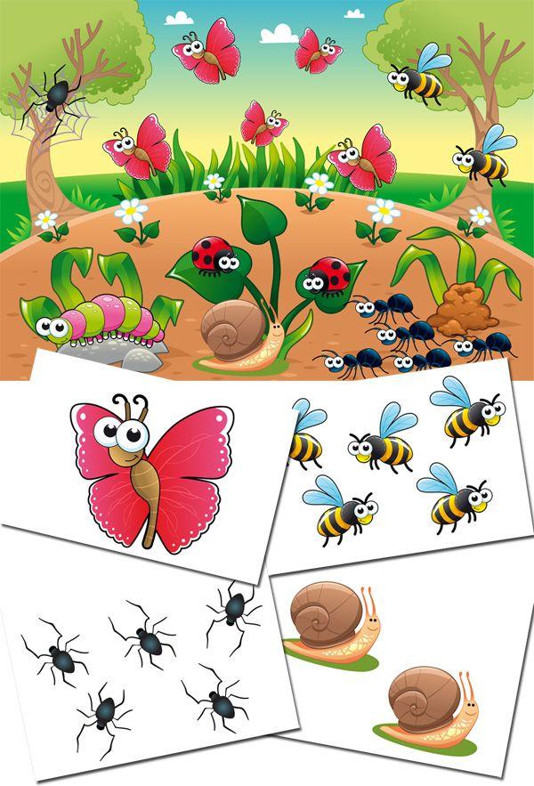Играем до школы: Дидактическая игра для детей - На полянке
