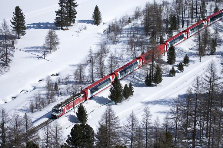 GLACIER EXPRESS FROM ZERMATT TO ST. MORITZ, SWITZERLAND  The world's greatest train journeys - Travel - Stylist Magazine