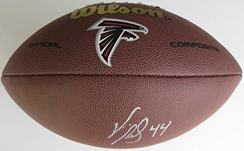 Vic Beasley, Atlanta Falcons, Signed, Autographed, NFL Logo Football, a COA with the Proof Photo of Viv Signing Will Be Included