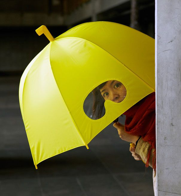 Goggles umbrella. Cute!