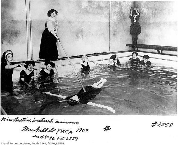 Swimming lessons in Toronto circa 1908.