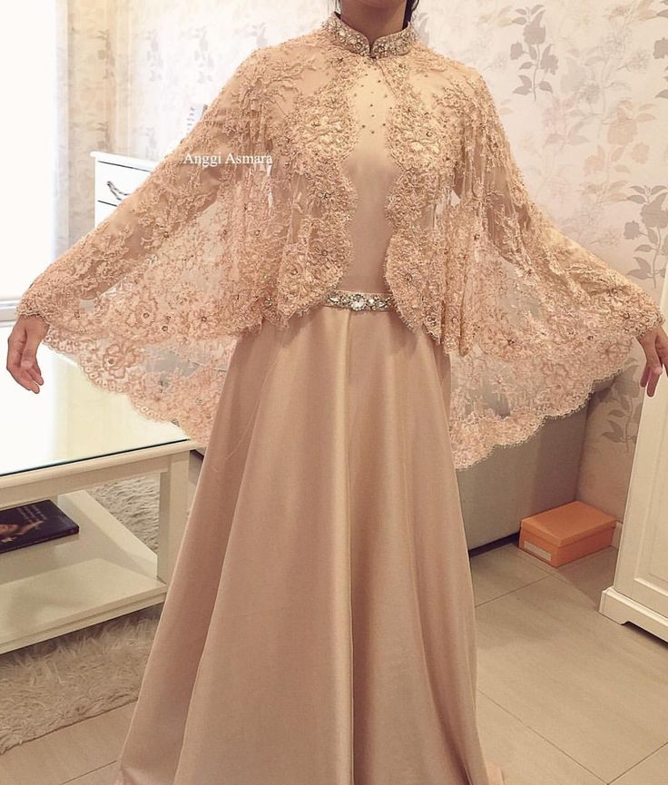 Lace cape dress  source by : #anggiasmara