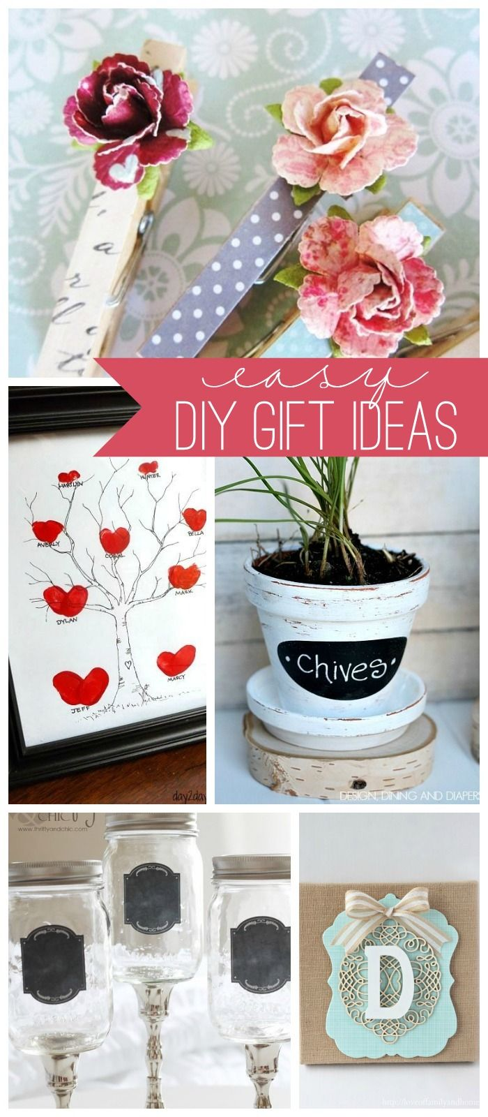 Easy DIY Gift Ideas { lilluna.com } -- love the clothespins...could make them into magnets for the fridge!