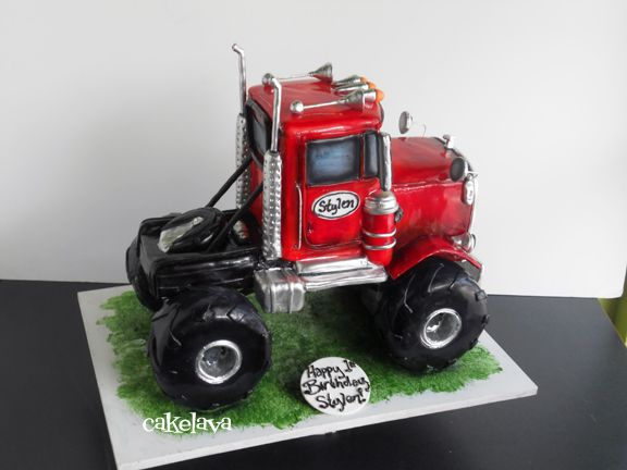 cakelava.com      cakelava.com   The monster truck cake is one of those requests that can make you shudder because it is so much work! Scu...