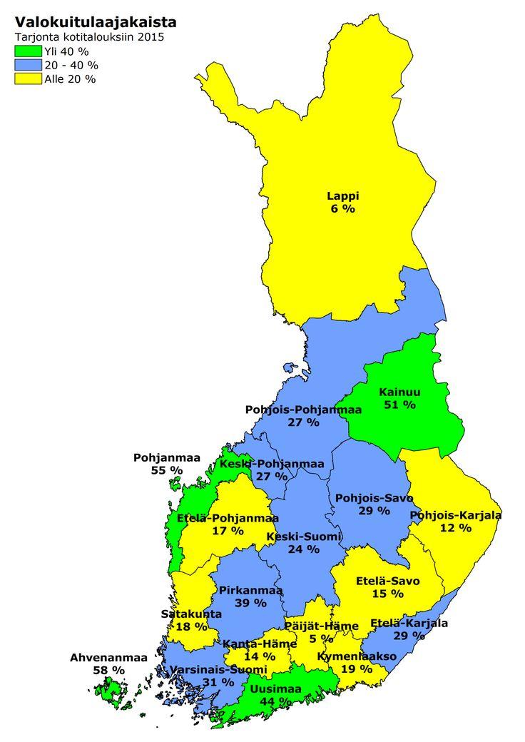 Viestintävirasto - Nopean laajakaistan tarjonta Suomessa
