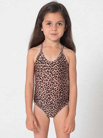 Printed Kids OnePiece Bathing Suit  American Apparel  Greta Rose  Girls bathing suits Kids