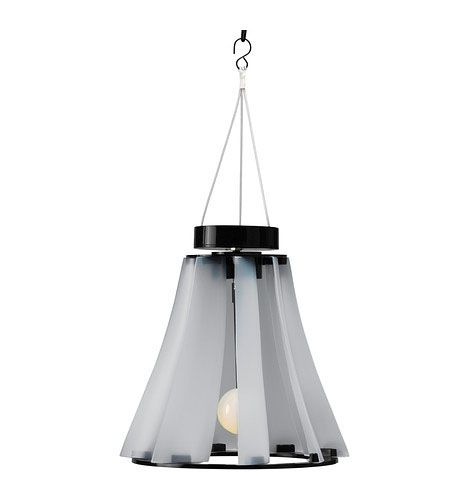 Ikea's new wind and solar powered lamp. Provides about 12 hours on a full charge!