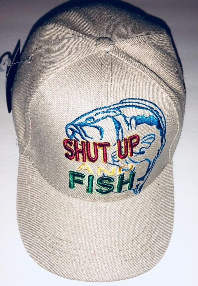Mens Fishing Cap Adjustable Shut Up And Fish