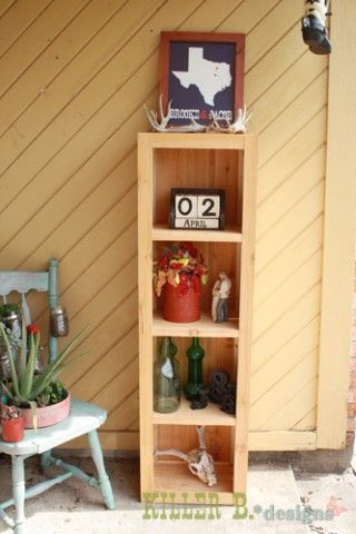 Rustic Bookcase from Fence Slats